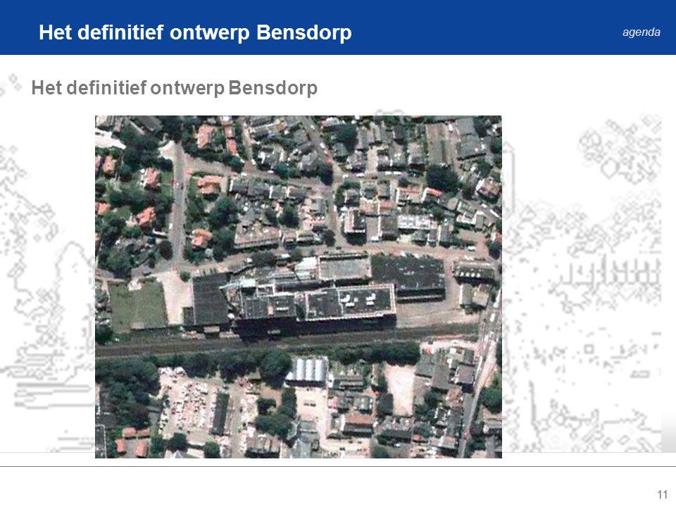 11 Het definitief ontwerp Bensdorp agenda Het definitief ontwerp Bensdorp
