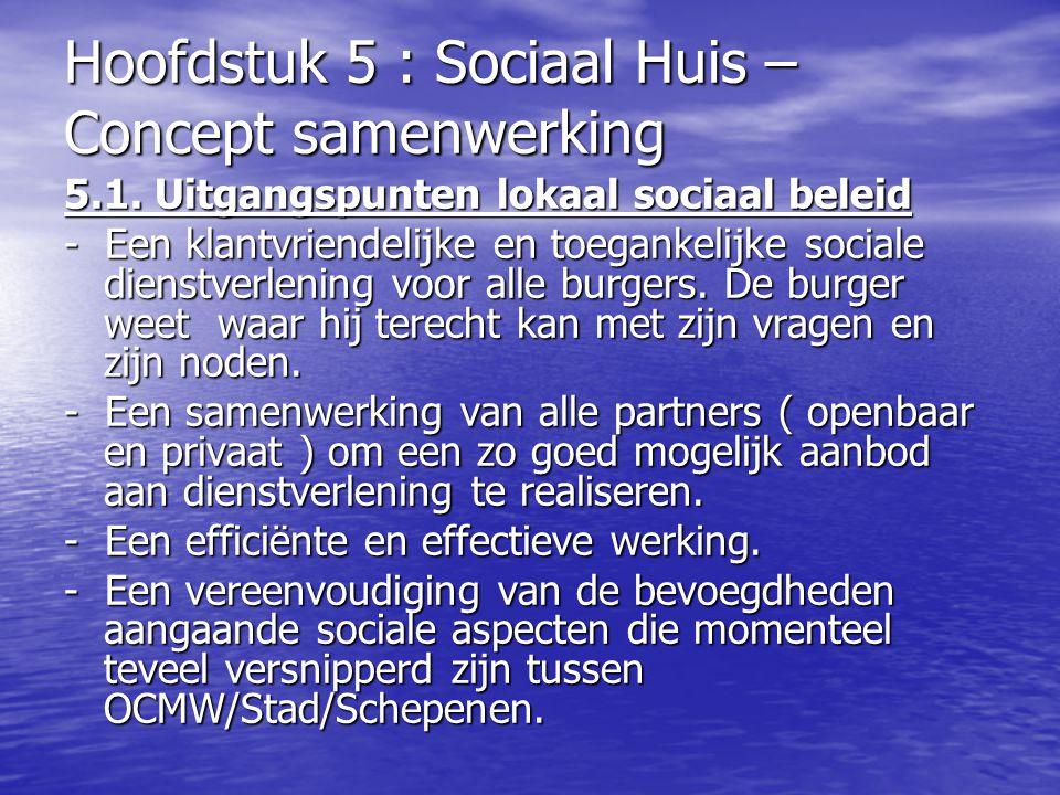 5.1. Uitgangspunten lokaal sociaal beleid - Een klantvriendelijke en toegankelijke sociale dienstverlening voor alle burgers. De burger weet waar hij