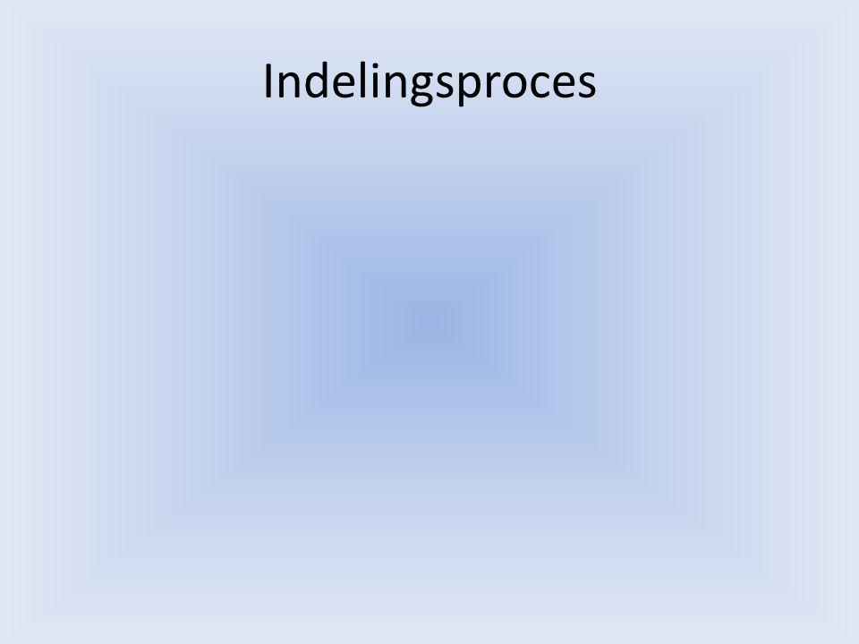 Indelingsproces