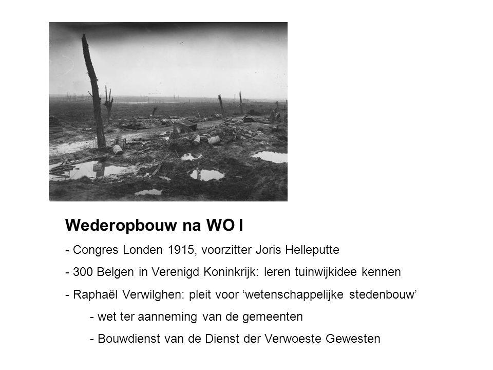 Wederopbouw na WO I - Congres Londen 1915, voorzitter Joris Helleputte - 300 Belgen in Verenigd Koninkrijk: leren tuinwijkidee kennen - Raphaël Verwil