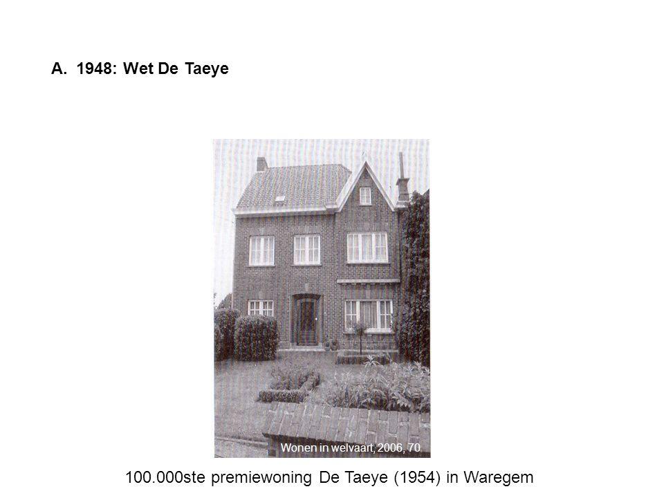 A.1948: Wet De Taeye 100.000ste premiewoning De Taeye (1954) in Waregem Wonen in welvaart, 2006, 70