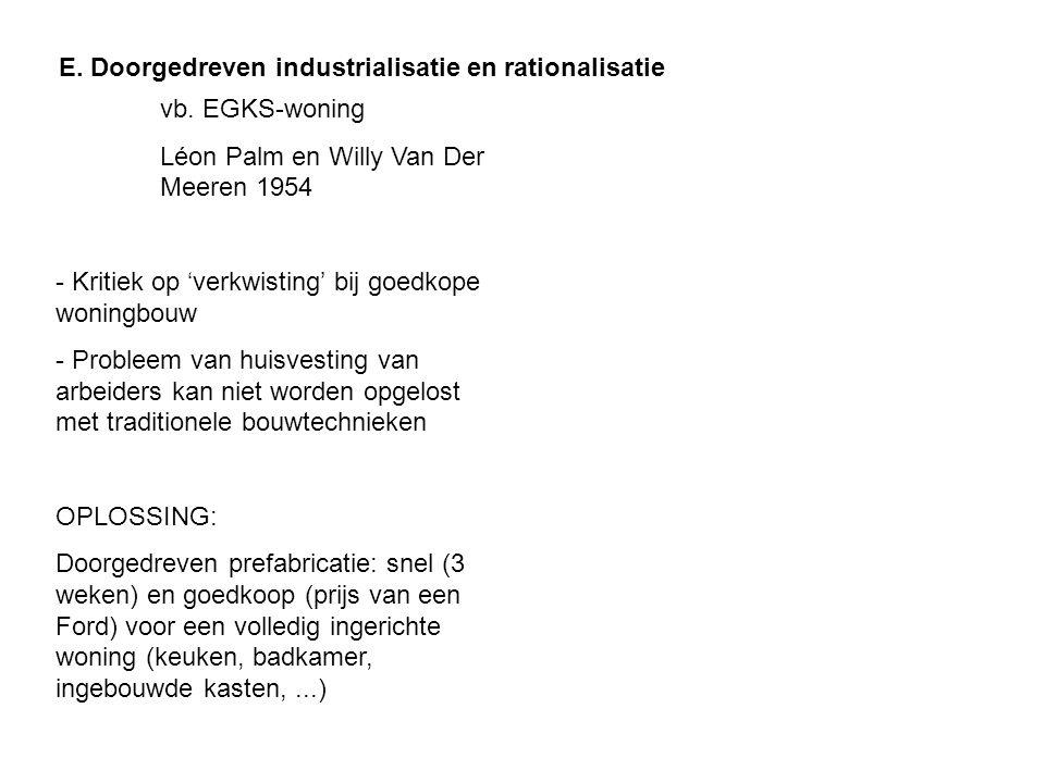 vb. EGKS-woning Léon Palm en Willy Van Der Meeren 1954 - Kritiek op 'verkwisting' bij goedkope woningbouw - Probleem van huisvesting van arbeiders kan