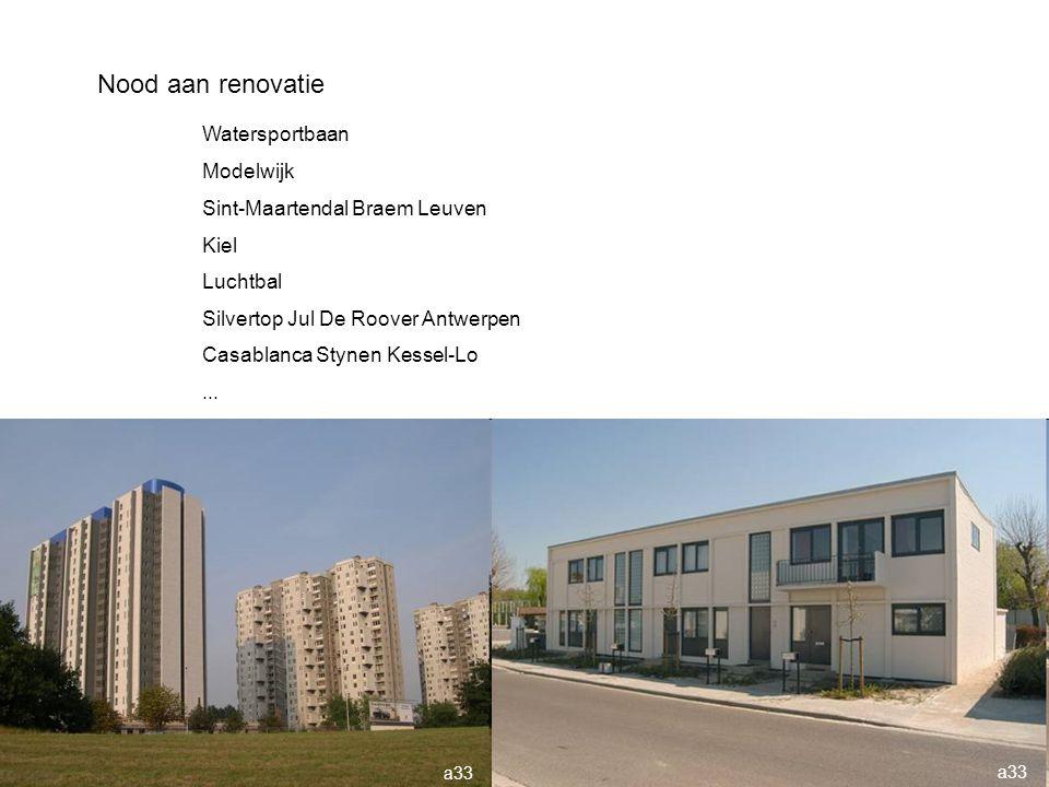 Nood aan renovatie Watersportbaan Modelwijk Sint-Maartendal Braem Leuven Kiel Luchtbal Silvertop Jul De Roover Antwerpen Casablanca Stynen Kessel-Lo..