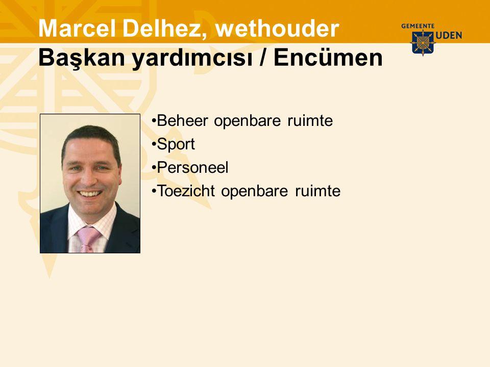 Beheer openbare ruimte Sport Personeel Toezicht openbare ruimte Marcel Delhez, wethouder Başkan yardımcısı / Encümen