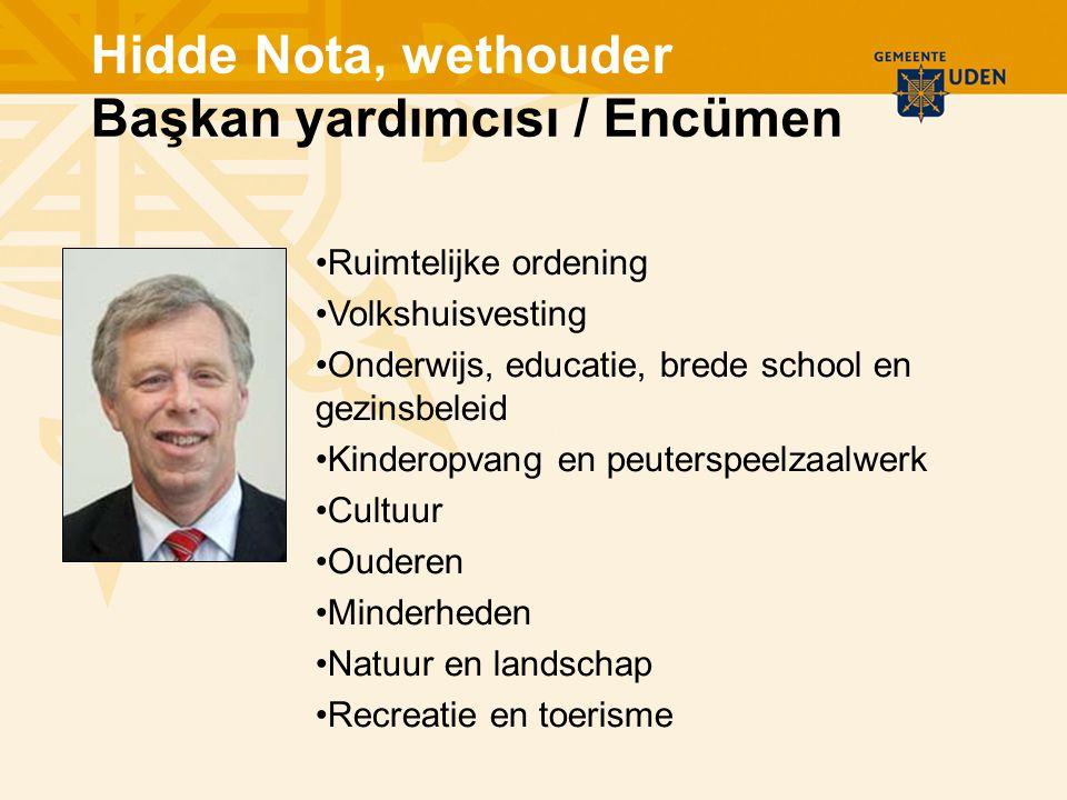 Ruimtelijke ordening Volkshuisvesting Onderwijs, educatie, brede school en gezinsbeleid Kinderopvang en peuterspeelzaalwerk Cultuur Ouderen Minderhede