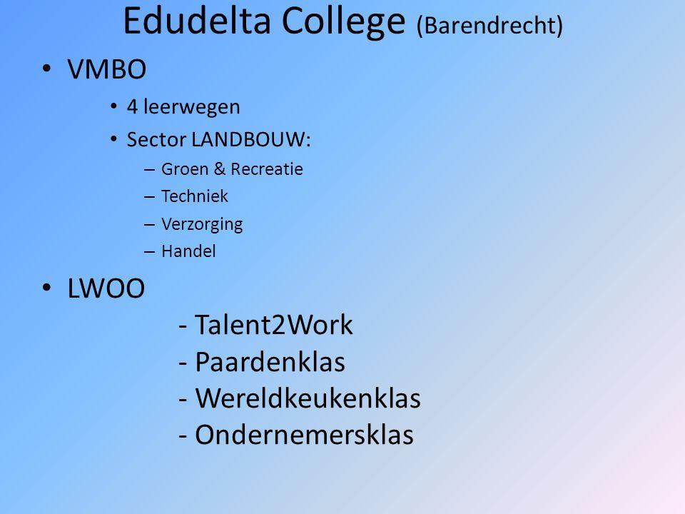Horeca Vakschool (Rotterdam-Noord) VMBO 4 Leerwegen sector TECHNIEK: consumptief – Kok – Gastheer/gastvrouw – Brood- en banketbakker – Medewerker toer