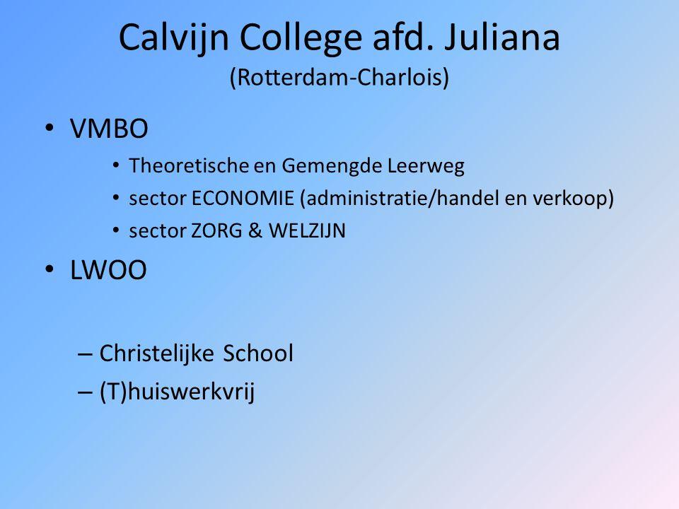 Thorbecke College (Tattistraat) VMBO Basis- en Kaderberoepsgerichte Leerweg Sector ECONOMIE (administratie en handel) Sector ZORG & WELZIJN (uiterlijk