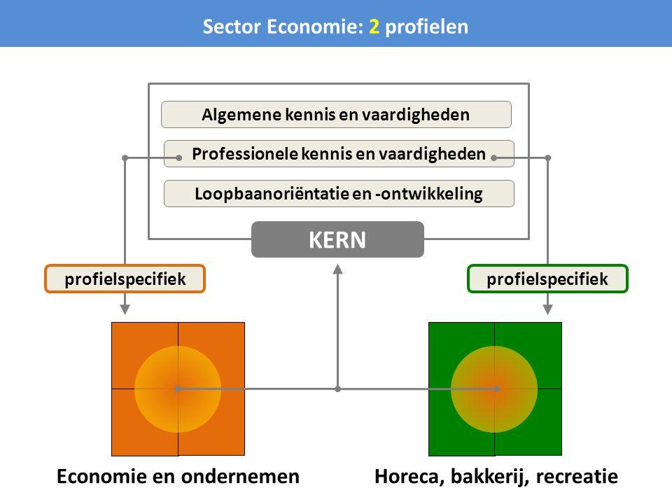 Economie en ondernemen Sector Economie: 2 profielen Horeca, bakkerij, recreatie Algemene kennis en vaardigheden Professionele kennis en vaardigheden L