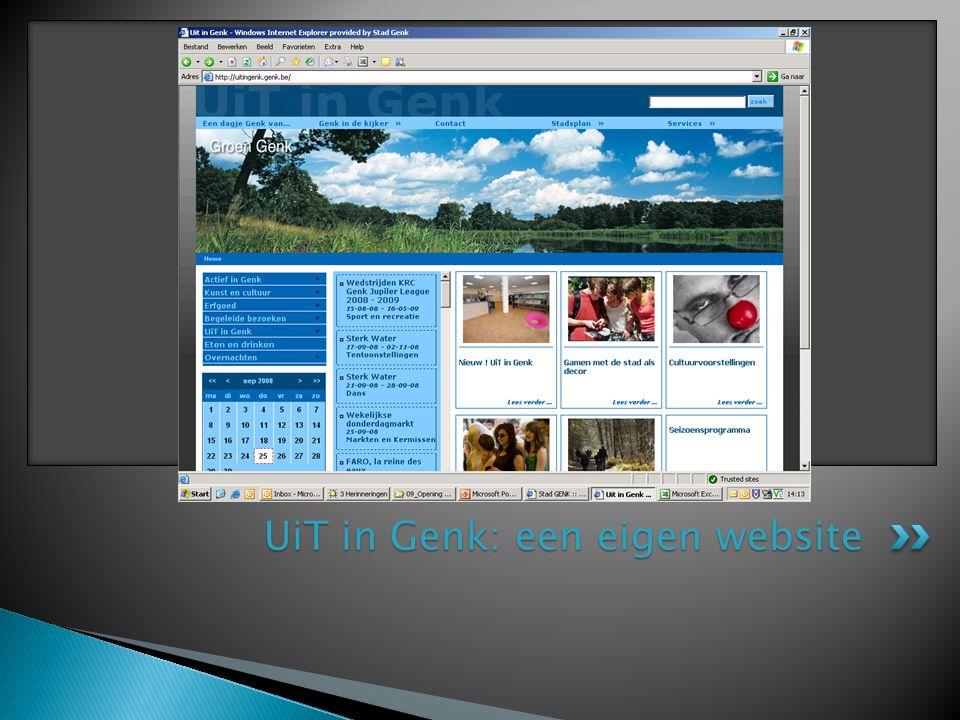 UiT in Genk: een eigen website
