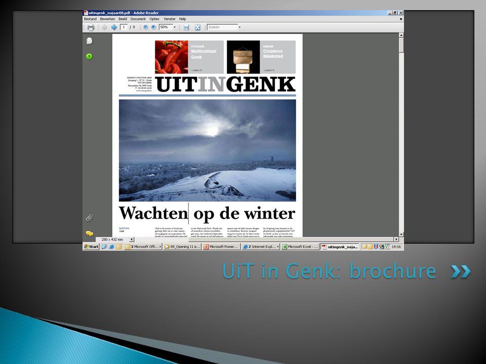 UiT in Genk: brochure