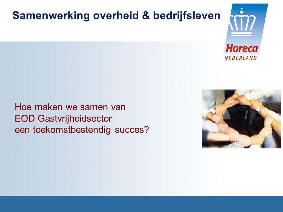 Samenwerking overheid & bedrijfsleven Hoe maken we samen van EOD Gastvrijheidsector een toekomstbestendig succes