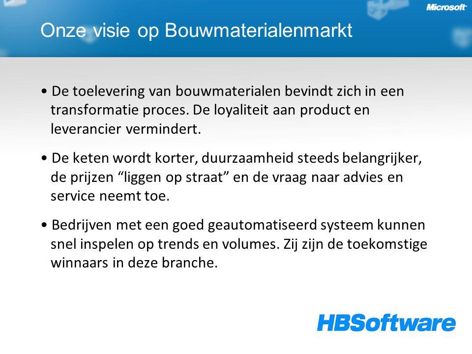Onze oplossing Dynamics Bouwmaterialen ᵀᴹ In Dynamics Bouwmaterialenᵀᴹ komen in- en verkoop, productie, voorraad, planning, transport en de financiële administratie op een efficiënte manier samen.