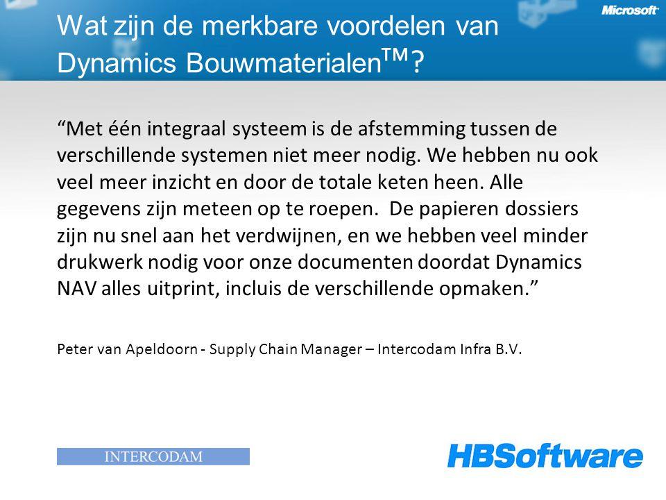 Met één integraal systeem is de afstemming tussen de verschillende systemen niet meer nodig.