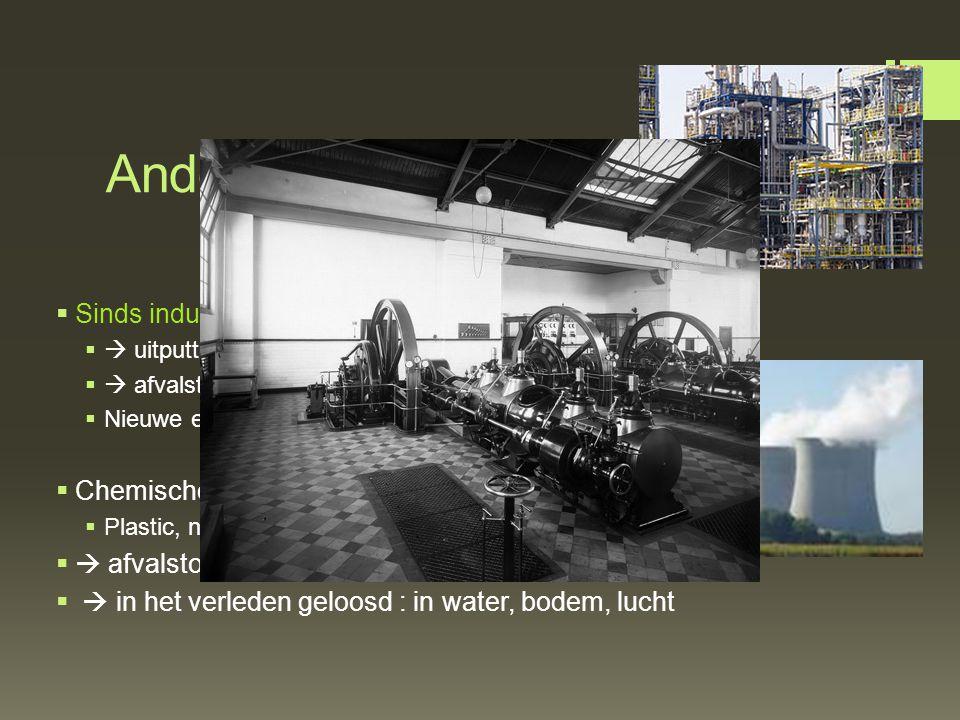 Andere levenswijze  Sinds industriële revolutie: gebruik machines  uitputting natuurlijke energiereserves  afvalstoffen komen vrij  Nieuwe energ