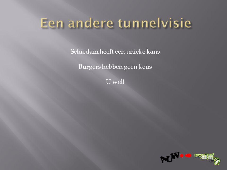 Schiedam heeft een unieke kans Burgers hebben geen keus U wel!