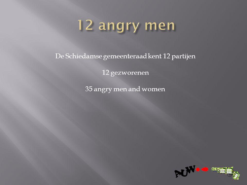 De Schiedamse gemeenteraad kent 12 partijen 12 gezworenen 35 angry men and women
