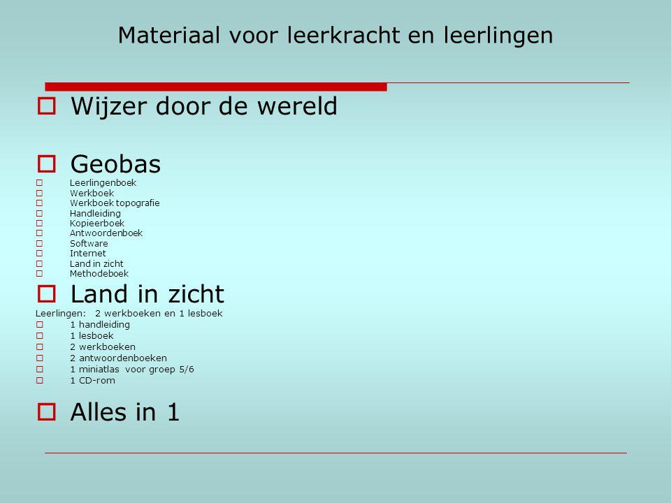 Materiaal voor leerkracht en leerlingen  Wijzer door de wereld  Geobas  Leerlingenboek  Werkboek  Werkboek topografie  Handleiding  Kopieerboek