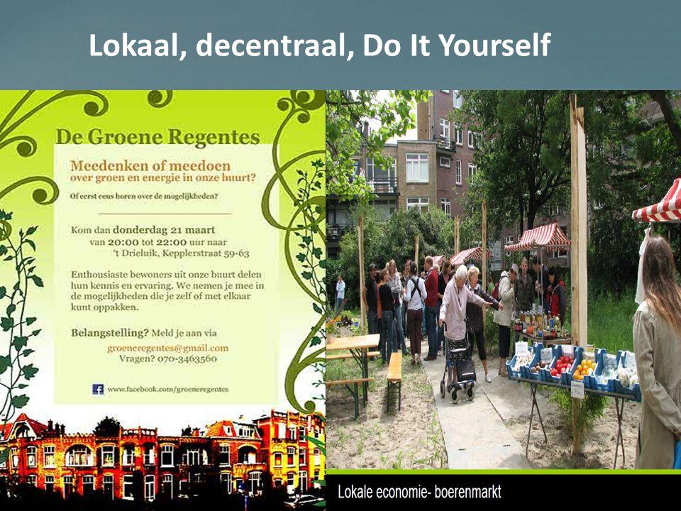 Lokaal, decentraal, Do It Yourself