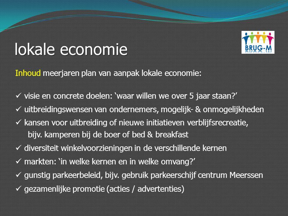 lokale economie Inhoud meerjaren plan van aanpak lokale economie: visie en concrete doelen: 'waar willen we over 5 jaar staan?' uitbreidingswensen van
