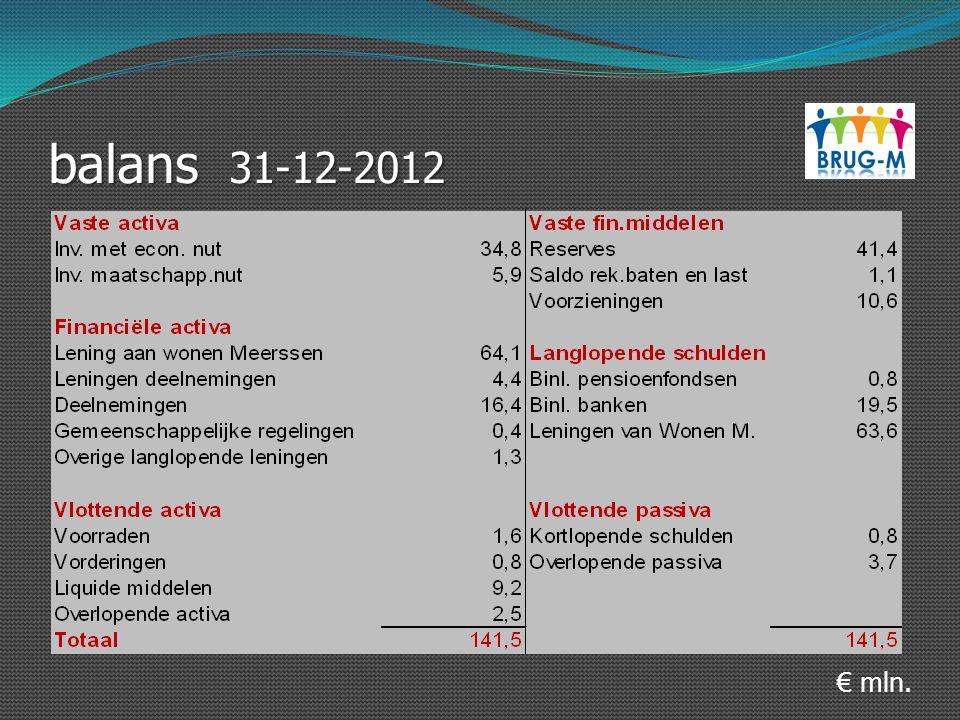balans 31-12-2012 € mln.