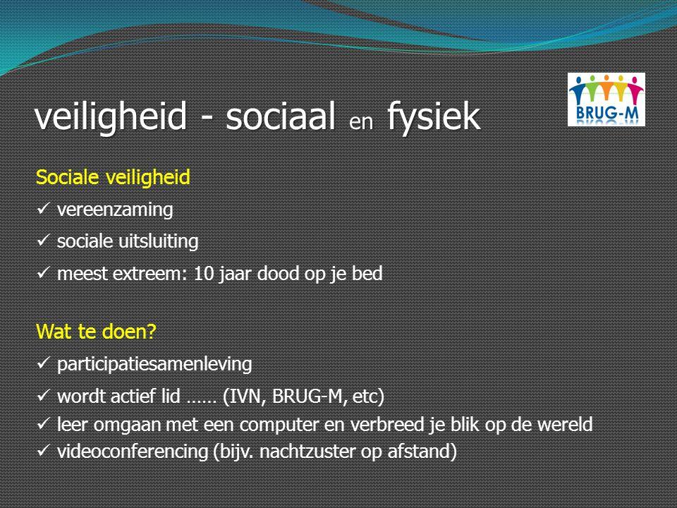 veiligheid - sociaal en fysiek Sociale veiligheid vereenzaming sociale uitsluiting meest extreem: 10 jaar dood op je bed Wat te doen? participatiesame