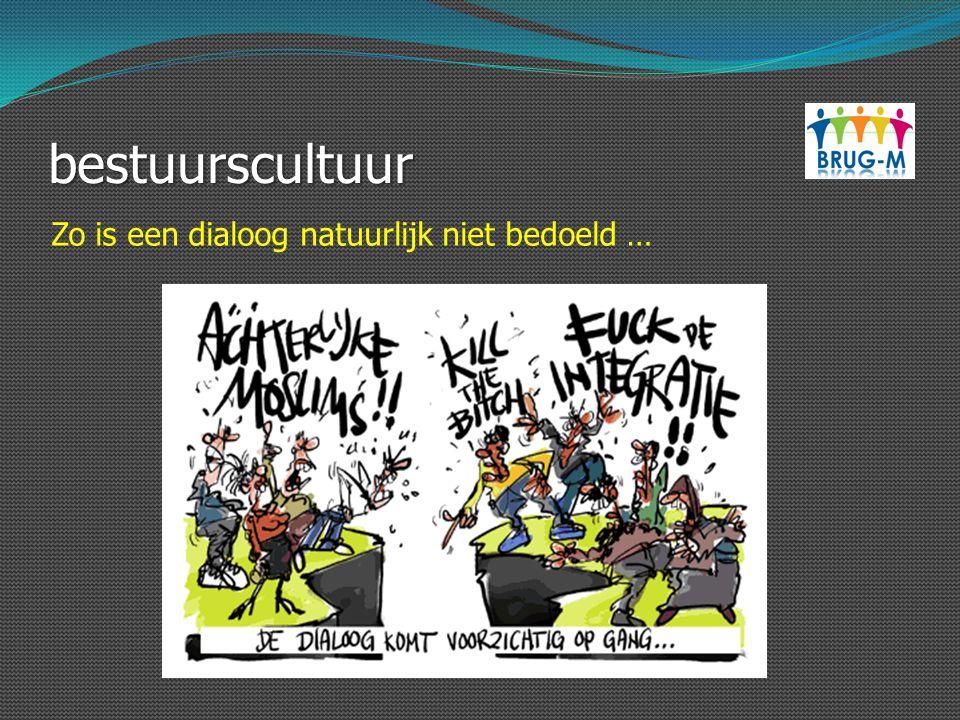 bestuurscultuur Zo is een dialoog natuurlijk niet bedoeld …