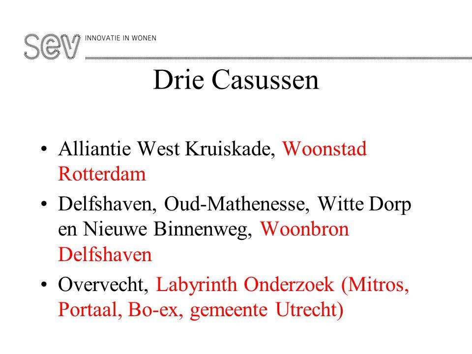 Drie Casussen Alliantie West Kruiskade, Woonstad Rotterdam Delfshaven, Oud-Mathenesse, Witte Dorp en Nieuwe Binnenweg, Woonbron Delfshaven Overvecht,