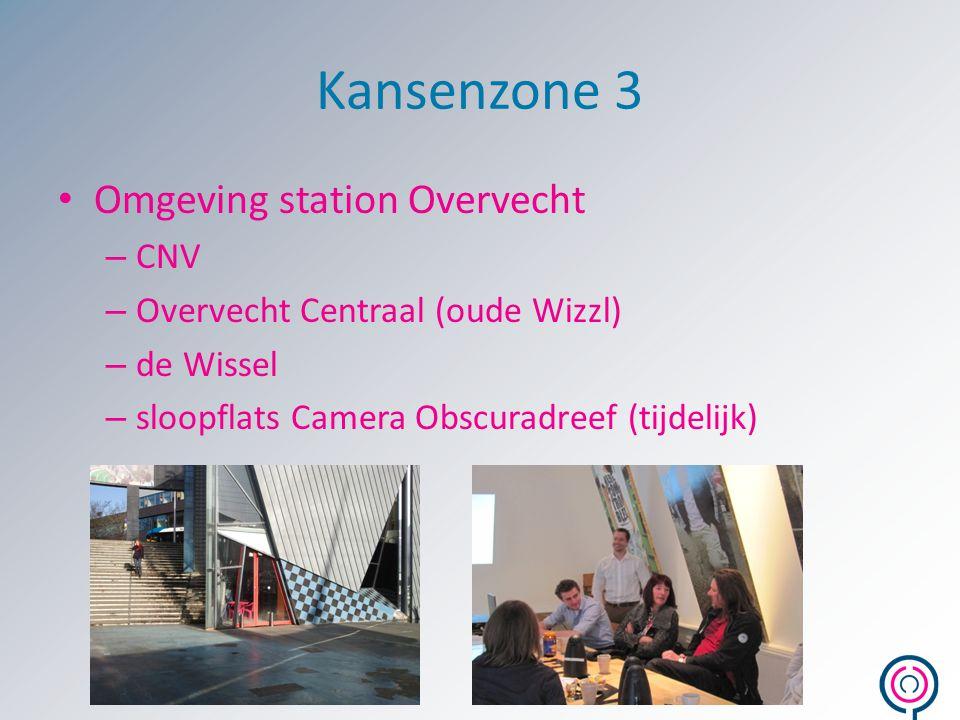 Kansenzone 3 Omgeving station Overvecht – CNV – Overvecht Centraal (oude Wizzl) – de Wissel – sloopflats Camera Obscuradreef (tijdelijk)