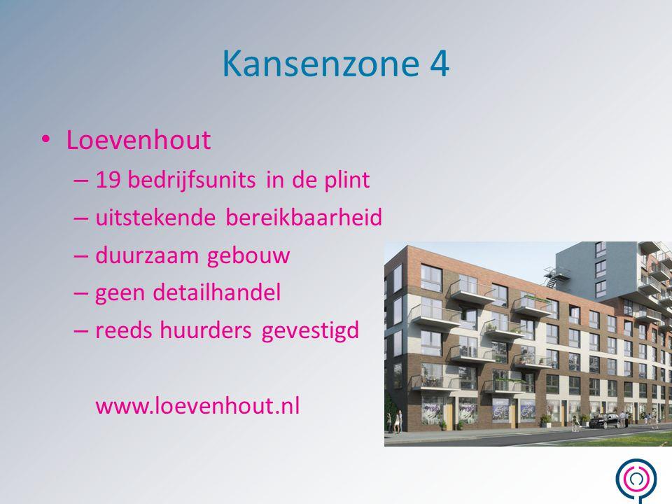 Kansenzone 4 Loevenhout – 19 bedrijfsunits in de plint – uitstekende bereikbaarheid – duurzaam gebouw – geen detailhandel – reeds huurders gevestigd w