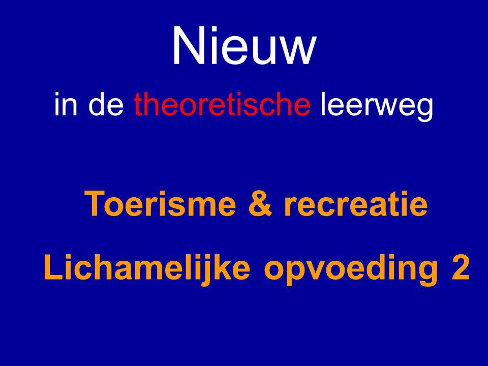 Nieuw in de theoretische leerweg Toerisme & recreatie Lichamelijke opvoeding 2