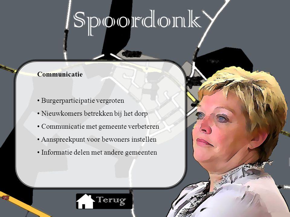 Communicatie Burgerparticipatie vergroten Nieuwkomers betrekken bij het dorp Communicatie met gemeente verbeteren Aanspreekpunt voor bewoners instelle