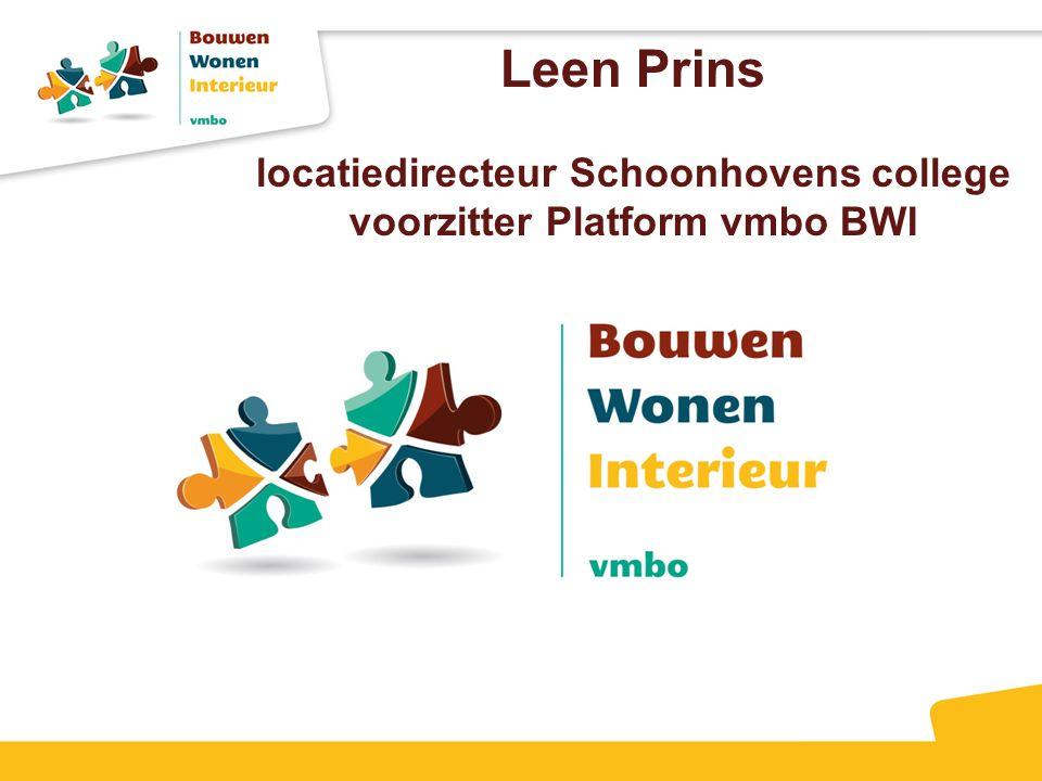 Leen Prins locatiedirecteur Schoonhovens college voorzitter Platform vmbo BWI