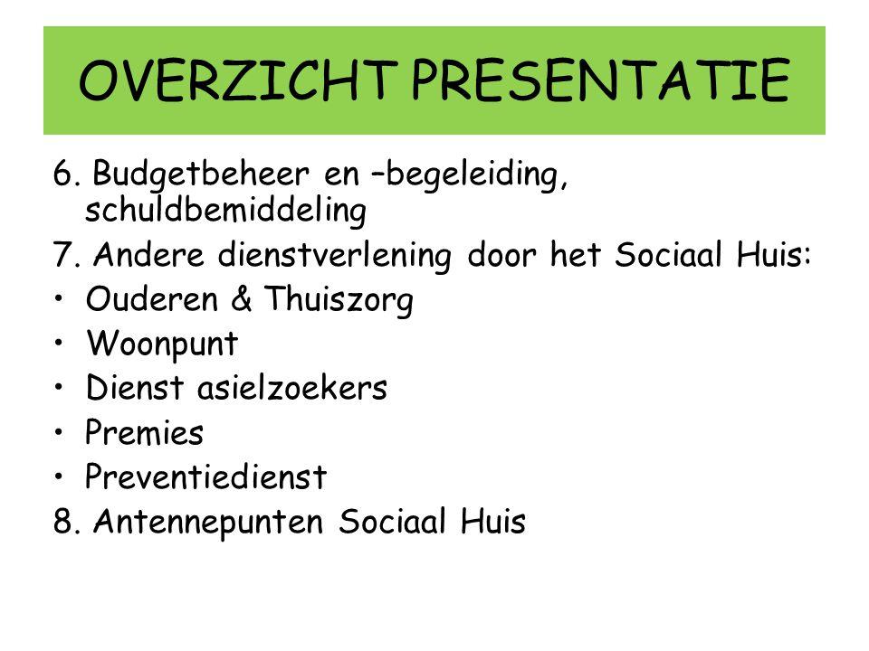 7/ Andere dienstverlening Sociaal Huis - Woonpunt: Samenwerking met vzw Woonaksent (ong.