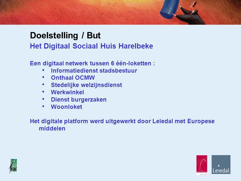 OCMW Welzijnsdienst Werkwinkel Dienst Burgerzaken Woonloket Infodienst Het Digitaal Sociaal Huis in Harelbeke