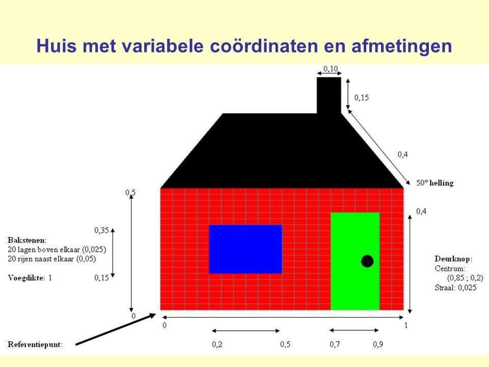 29 Huis met variabele coördinaten en afmetingen