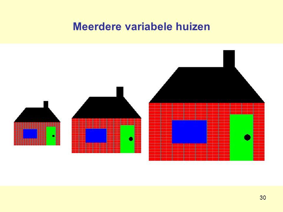 30 Meerdere variabele huizen