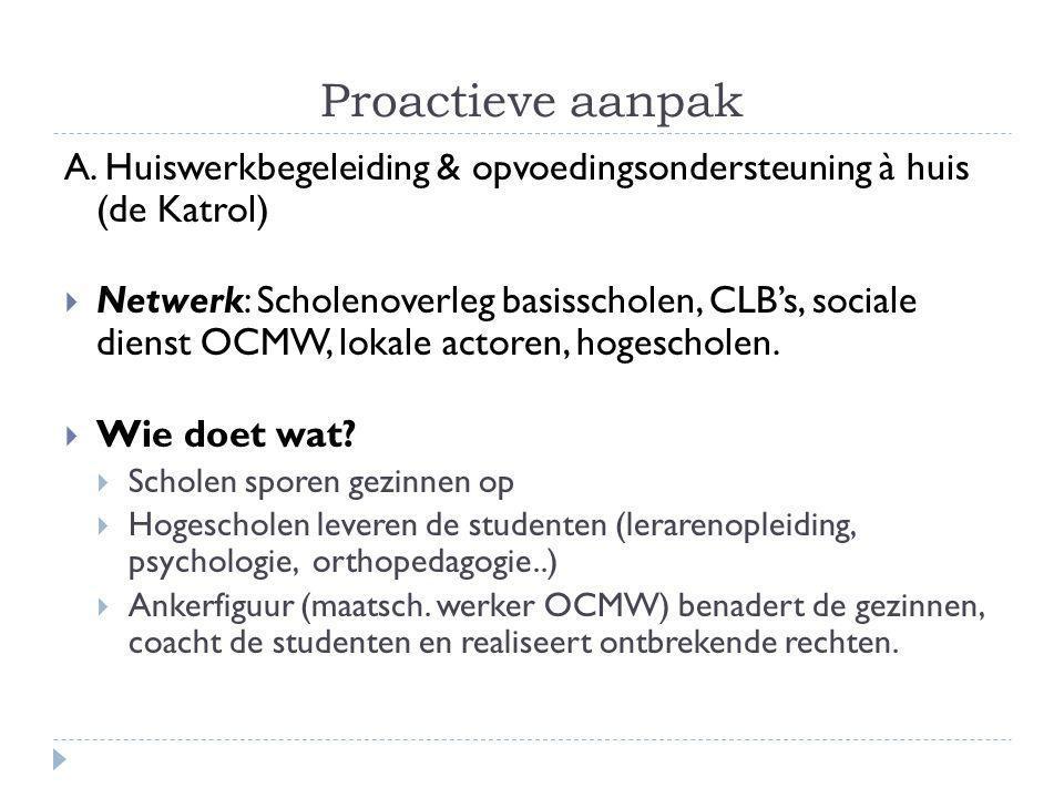 Proactieve aanpak A.
