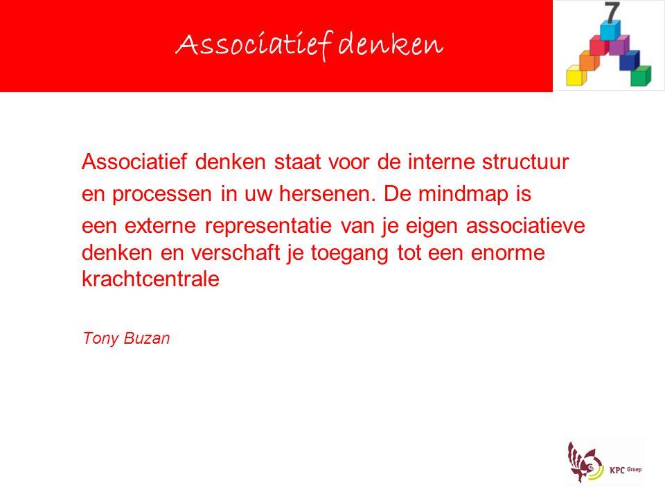 Associatief denken Associatief denken staat voor de interne structuur en processen in uw hersenen.