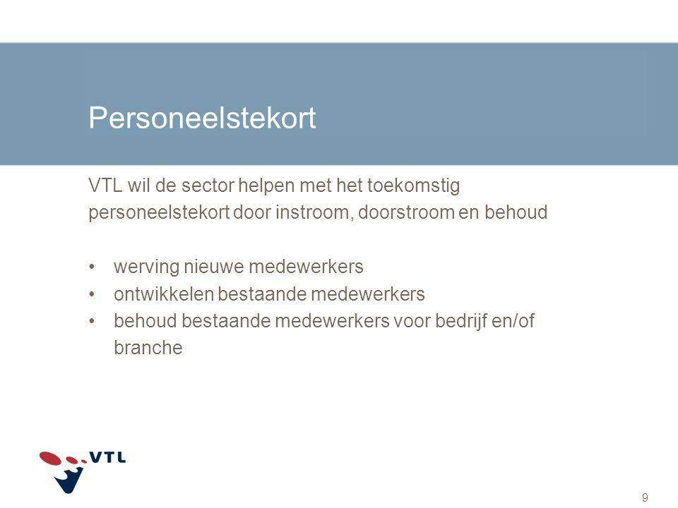 Personeelstekort VTL wil de sector helpen met het toekomstig personeelstekort door instroom, doorstroom en behoud werving nieuwe medewerkers ontwikkel