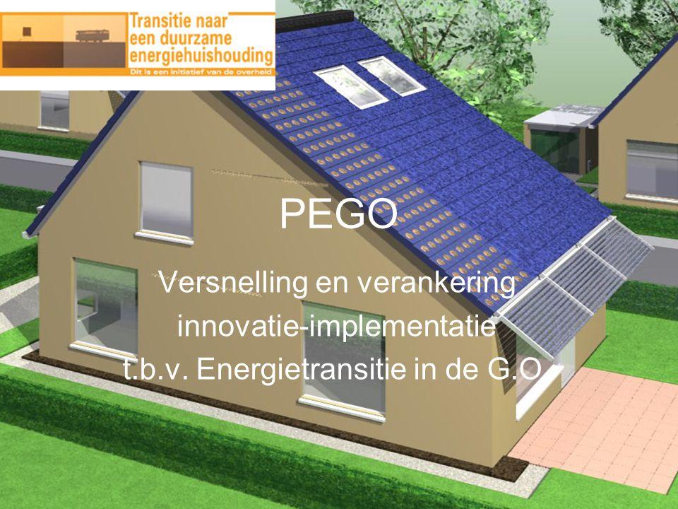 PEGO Versnelling en verankering innovatie-implementatie t.b.v. Energietransitie in de G.O.