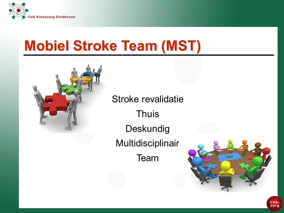 Stroke revalidatie Thuis Deskundig Multidisciplinair Team Mobiel Stroke Team (MST)