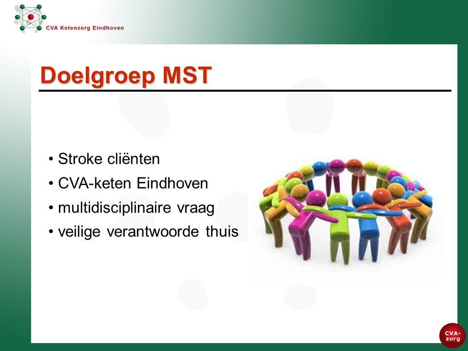 Stroke cliënten CVA-keten Eindhoven multidisciplinaire vraag veilige verantwoorde thuis Doelgroep MST