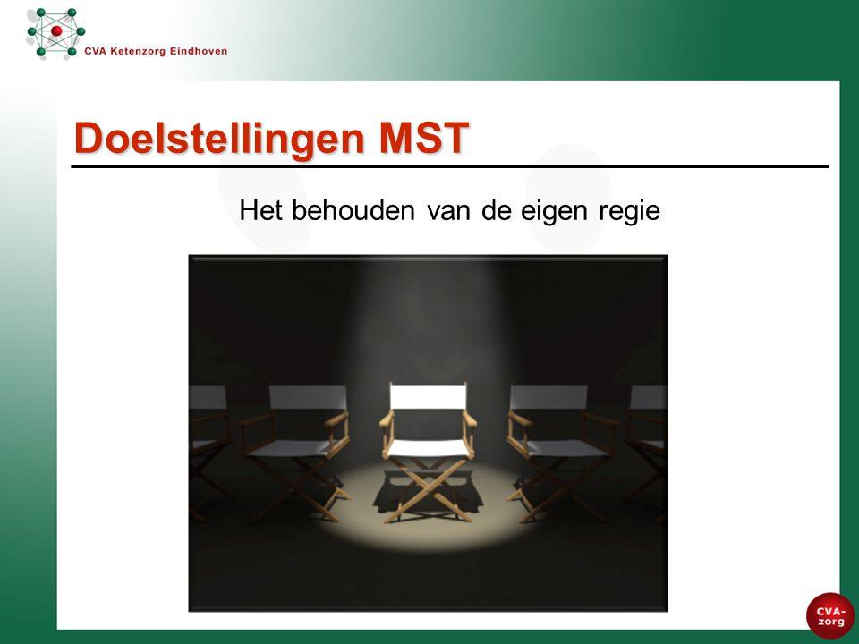 Het behouden van de eigen regie Doelstellingen MST