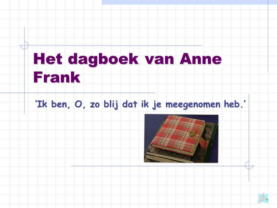 Het dagboek van Anne Frank 'Ik ben, O, zo blij dat ik je meegenomen heb.'