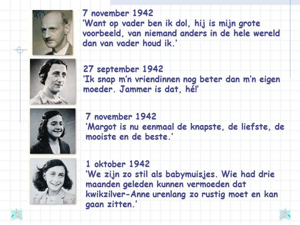 De onderduikers Op 6 juli 1942 duikt de familie Frank onder. Later komen daar nog de familie Van Pels (de familie Van Daan) en Fritz Pfeffer (Albert D