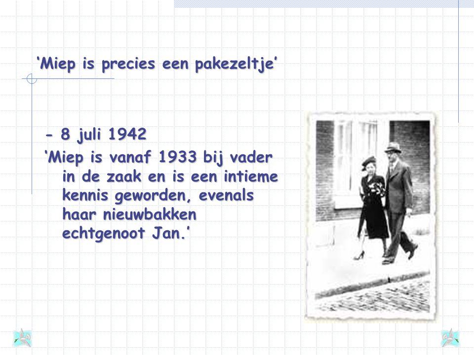 Contact met de buitenwereld - 28 januari 1944 'Het beste voorbeeld zijn toch wel onze helpers, die ons tot nu erdoorheen getrokken hebben en ons hopel
