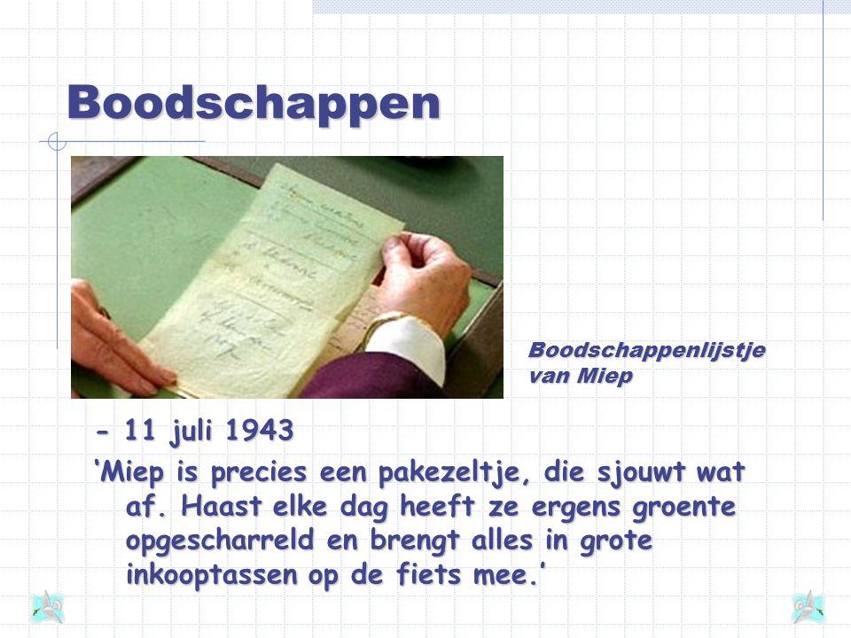 'Miep is precies een pakezeltje' - 8 juli 1942 'Miep is vanaf 1933 bij vader in de zaak en is een intieme kennis geworden, evenals haar nieuwbakken ec