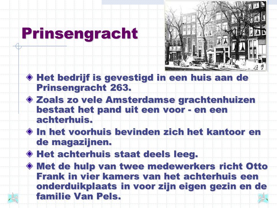 Opecta In 1933, het jaar dat Otto Frank uit Duitsland vlucht, wordt hij licentiehouder in Nederland van Opekta, een middel om jam te bereiden. Als in