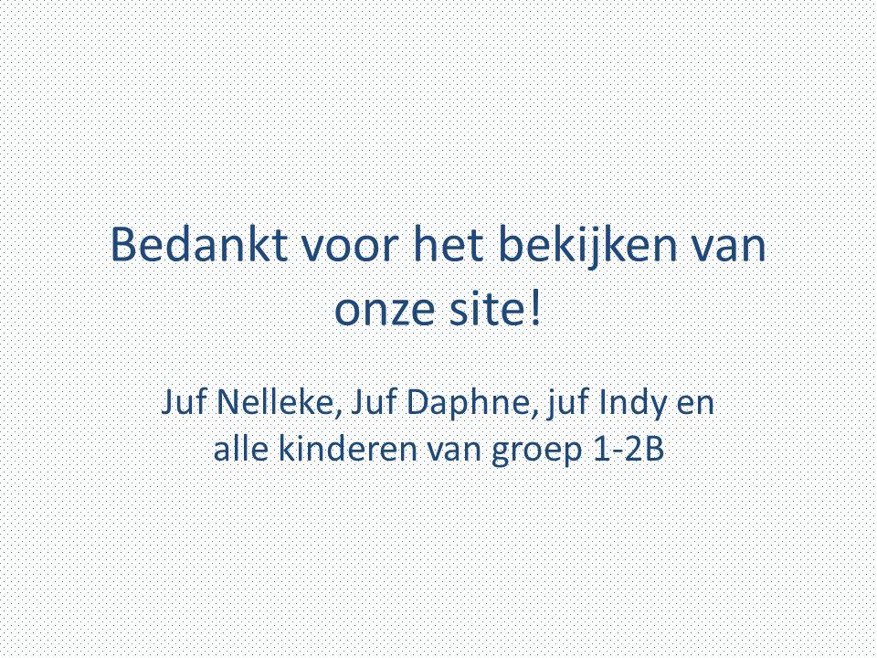 Bedankt voor het bekijken van onze site! Juf Nelleke, Juf Daphne, juf Indy en alle kinderen van groep 1-2B