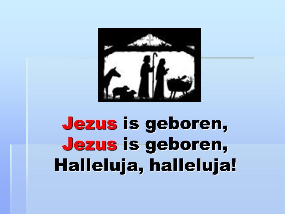 Jezus is geboren, Jezus is geboren, Halleluja, halleluja!